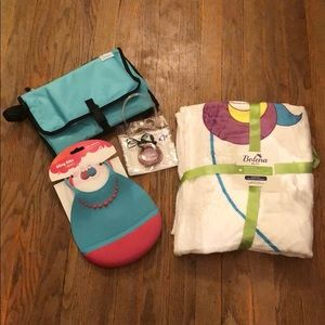 Other - New Baby Lot Changing Pad,Bibs,Milestone Blanket